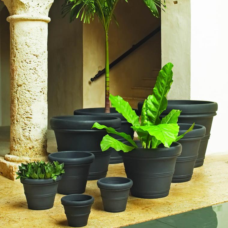 Brunello Rolled Rim Planters
