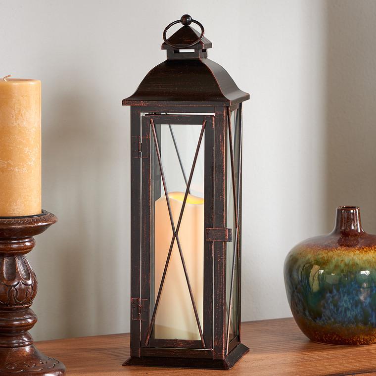 "Siena 16"" LED Candle Lantern (Antique Bronze)"