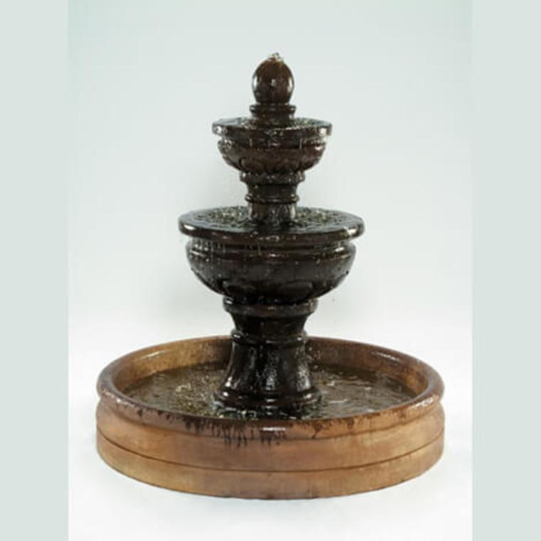 "Baroque Fountain with 46"" Basin"