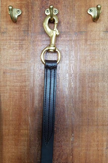 Shank Leather Brass Swival Snap