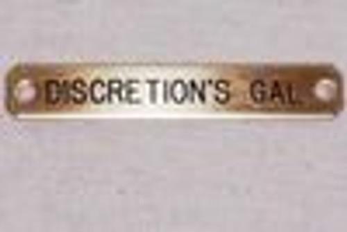 "Nameplate Brass  7/8""x5"" 1 line"