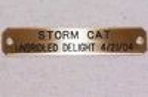 Nameplate Brass Name Horse S&D
