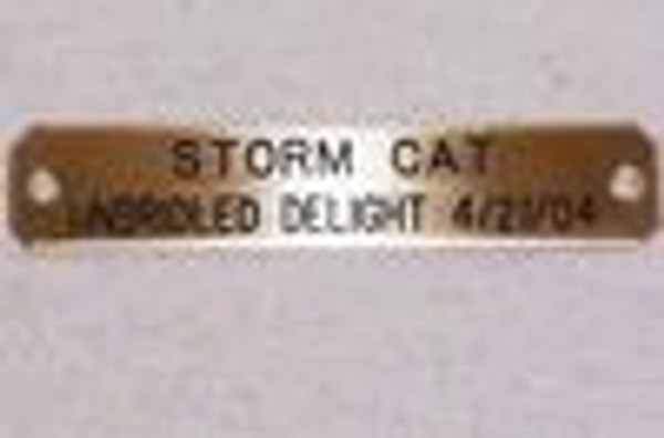 Nameplate Brass  Sire and Dam