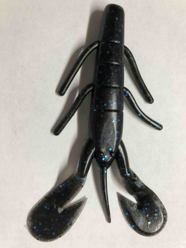 Black blue Flake lure. 3.5 inches