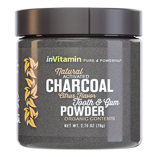 Natural Activated Charcoal Tooth & Gum Powder - Citrus