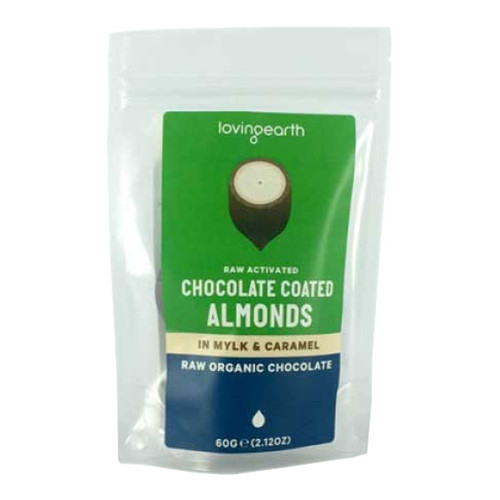 Raw Activated Chocolate Coated Almonds in Raw Chocolate