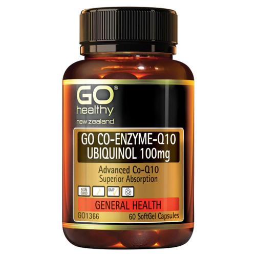 Go Co-Q10 Ubiquinol 100mg - Advanced Heart Support