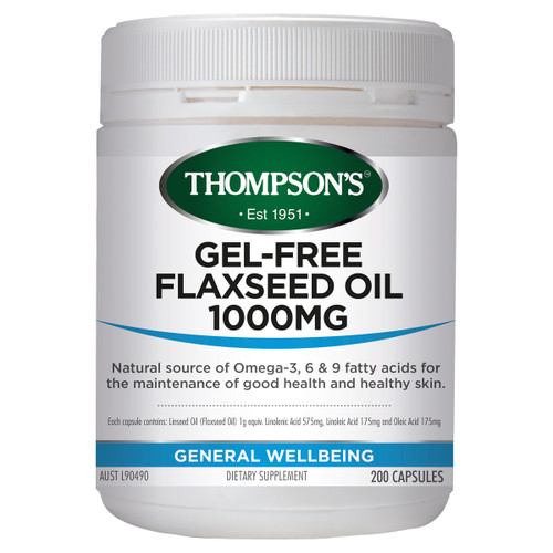 Gel-Free Flax Seed Oil 1000