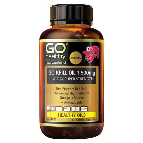 Go Krill Oil 1,500mg 1-A-Day Super Strength