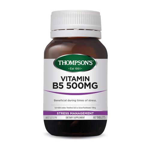 Vitamin B5 500mg (Pantothenic Acid)