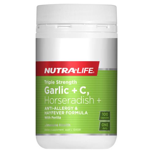 Triple Strength Garlic + C Horseradish & Histidine