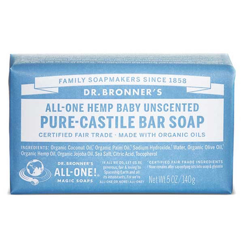 All-One Hemp Baby Unscented Bar Soap