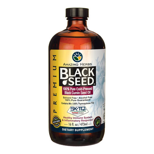 100% Pure Cold-Pressed Black Cumin Seed Oil