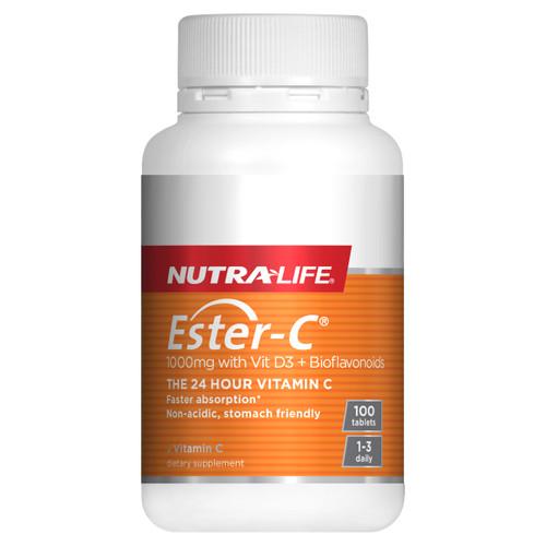 Ester C 1000mg with Vitamin D3 + Bioflavonoids