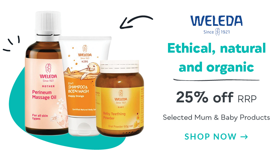 Homepage Deals - Weleda Mother & Baby Range Discount off RRP