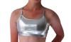 Girls Dance Top- Silver Shimmer