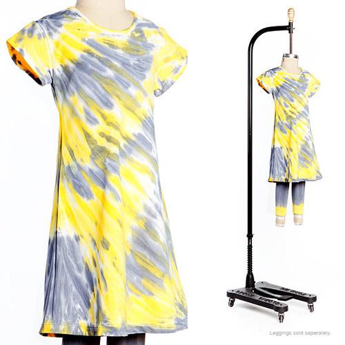 Swirl and Twirl Dress - Lemon Drop