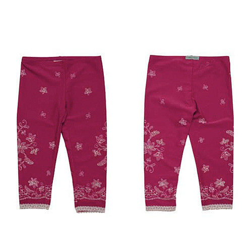 Girls Lace Icing with Sprinkles Leggings - Raspberry Truffle