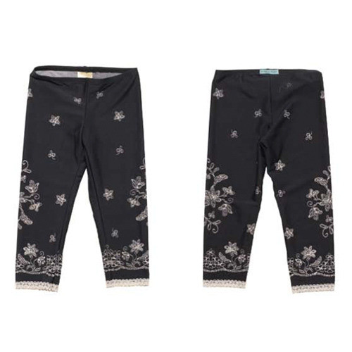 Girls Lace Icing with Sprinkles Leggings - Black Truffle