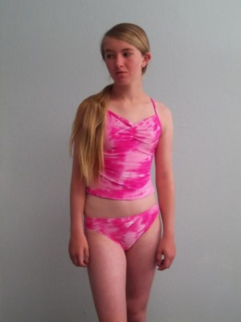 Girls Camilla pink tankini