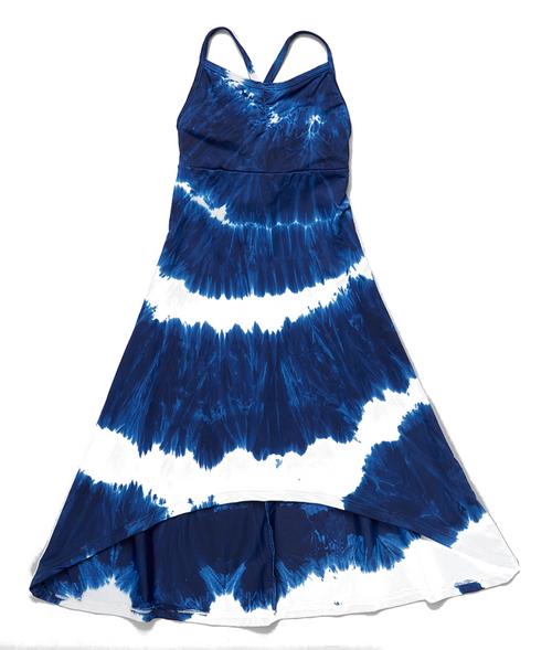 Girls cami maxi- blue bird spiral