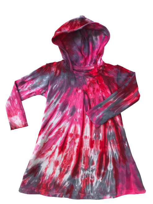 Girls Hoodie Dress- Raspberry Leaf Tea