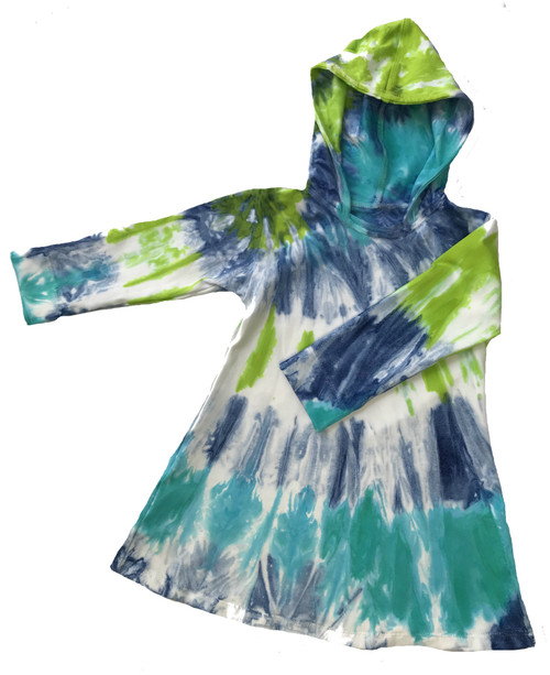 Girls Hoodie Dress- Northern Lights