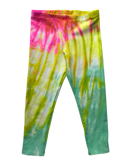 Girls Long Leggings- Candi Swirl