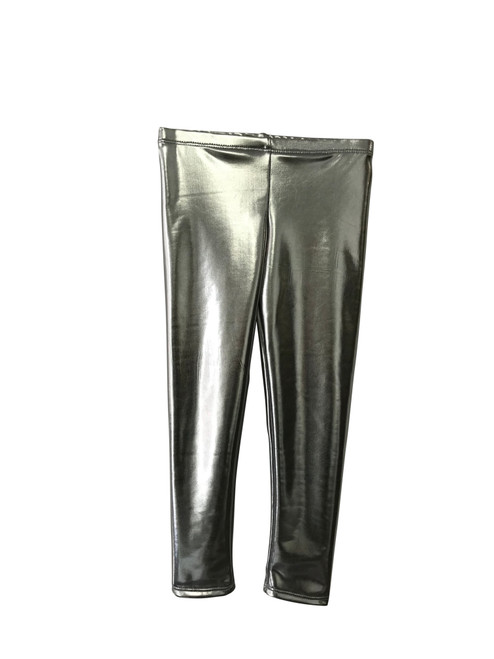 Girls Long Leggings- Silver Shimmer