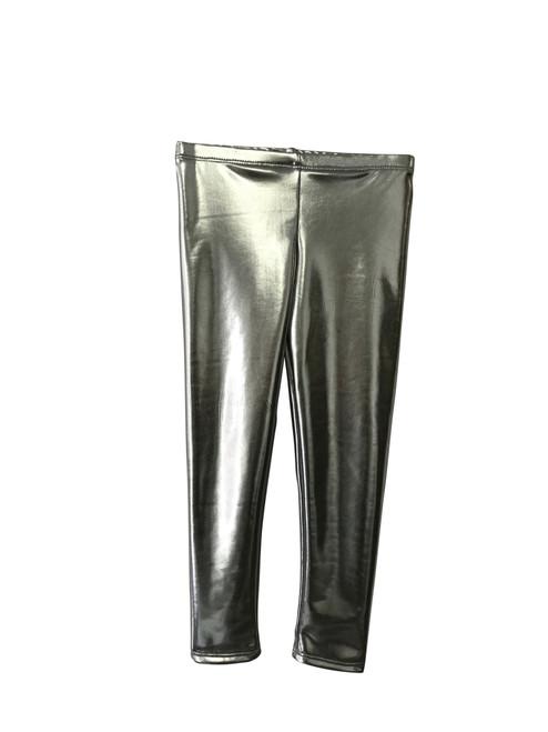 Girls Long Leggings- Silver Shimmer