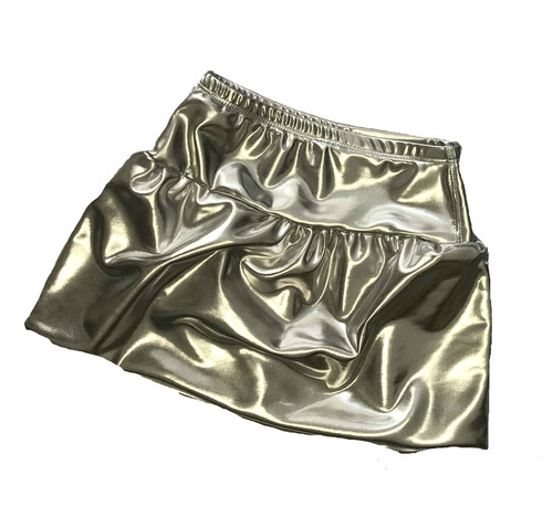Girls Bubble Skirt- Silver Shimmer