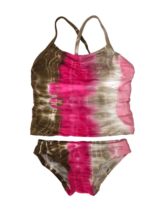 Girls Tankini Two Piece Swim-  Neapolitan