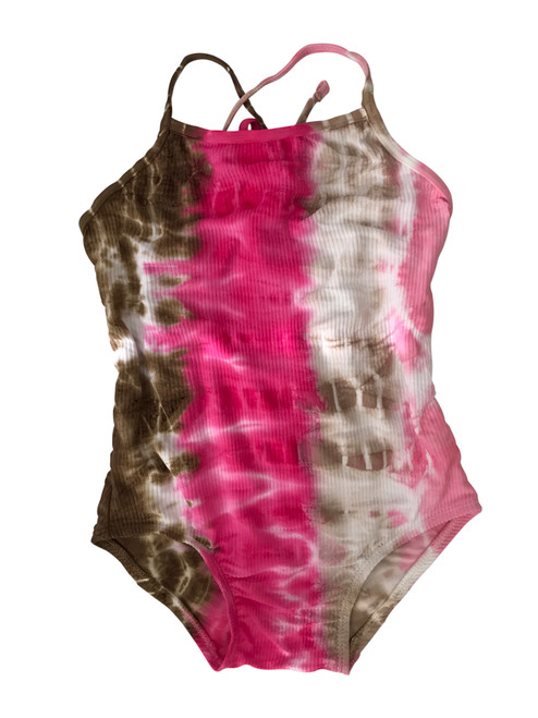 Girls Rib Maillot  One Piece -Neapolitan