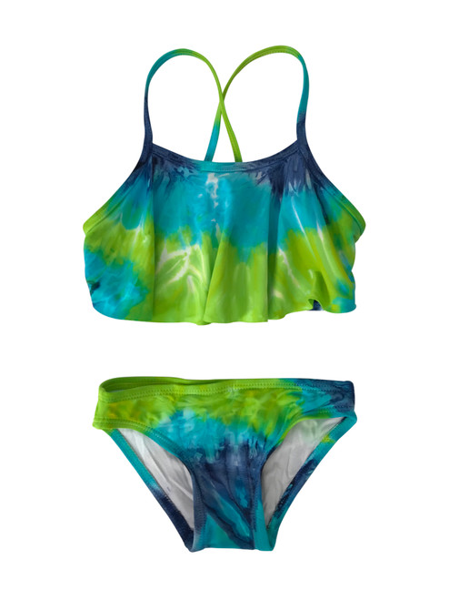 Girls Flutter Top Two Piece Swimsuit- Northern Lights