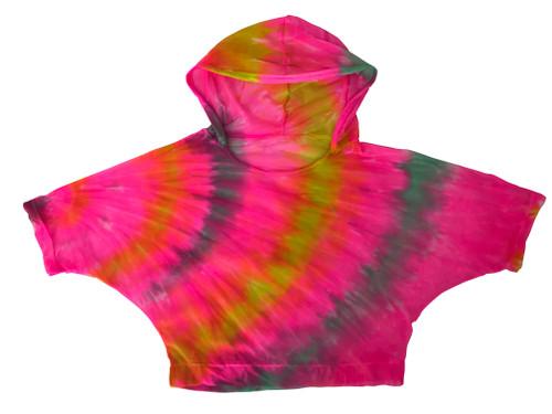 Girls  Mesh Hoodie- Candie Neon Pink