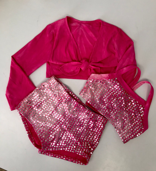 Girls Shrug- Camilla Pink Dip