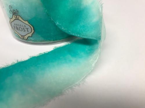 Velvet Ribbon- Turquoise Dip