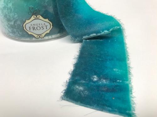 Velvet Ribbon- Peacock