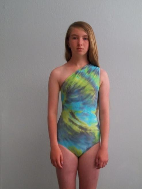 Girls Asymmetric one piece Earth