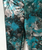 Girls Distressed Metallic Flower  Leggings- Black Turquoise  Shimmer