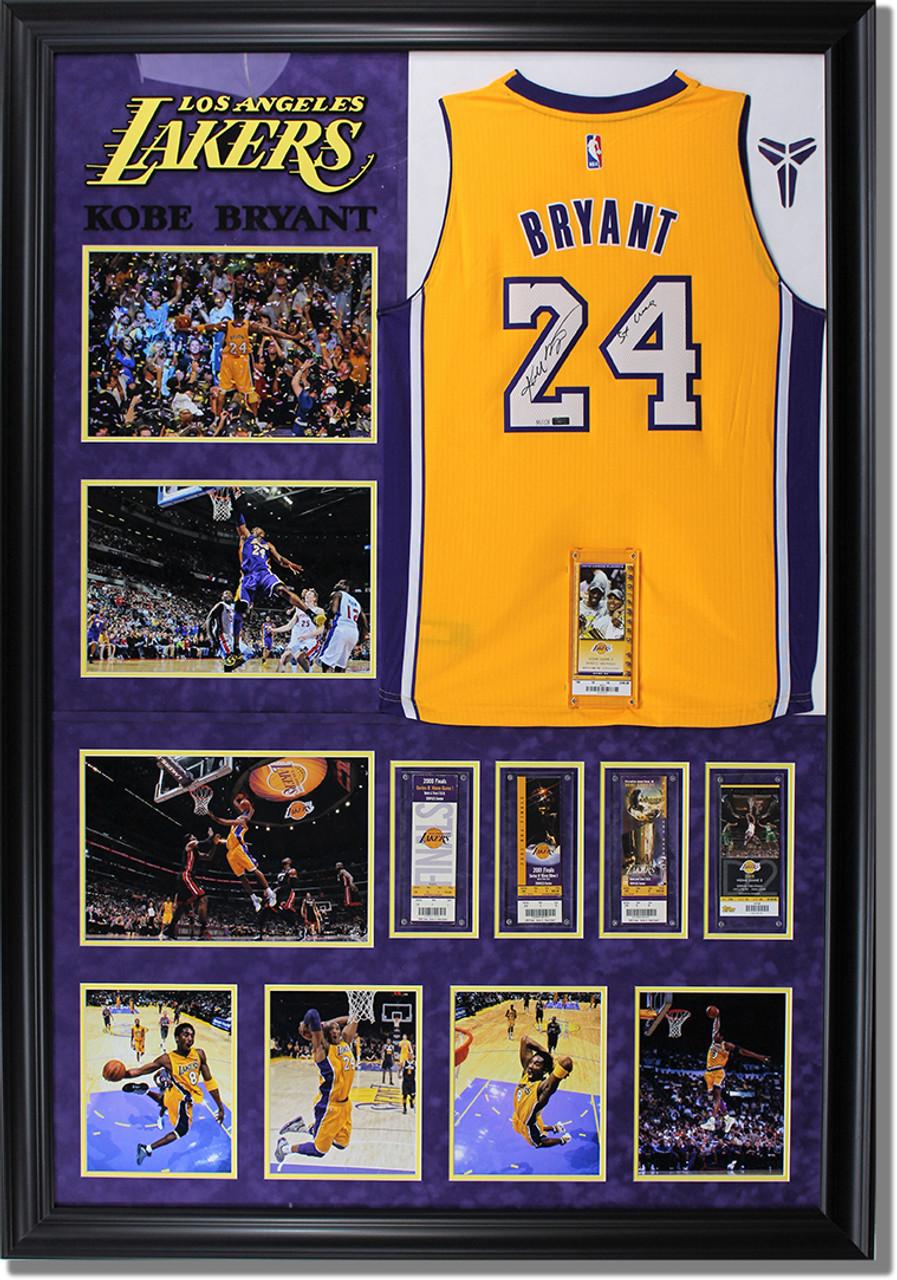 LA Lakers Kobe Bryant Custom Framed Sports Jersey - Monster ...