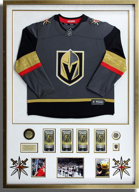 VGK Golden Knights Framed Jersey