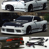 CS7072FK1 - Charge Speed 1989-1994 Nissan 240SX S-13 Conversion to S-15 Wide Body Complete Kit With OEM FRP Hood