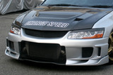 CS424FB2 - Charge Speed 2002-2007 Mitsubishi Lancer Evo VII, VIII & IX Type-2 Front Bumper W/ Carbon Center