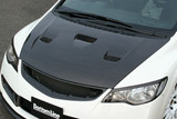 CS3088HCV - Charge Speed 2006-2010 Honda Civic FD2 Sedan JDM/ 2006-2010 Acura CSX Carbon Vented Hood