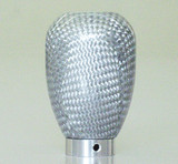 Charge Speed Universal Shift Knob Silver Carbon