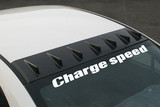 CS3088RFC - Charge Speed 2006-2010 Honda Civic Sedan/ 2006-2010 Acura CSX Carbon Roof Fin