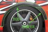 CS978OFB - Charge Speed 2002-2007 Subaru Impreza GD-A/F FRP Body Over Fender + Bumper Part
