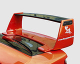 CS978CW3 - Charge Speed 2002-2007 Subaru WRX Full Composite Wing Straight With Carbon Top