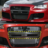 CS427BCGCS - Charge Speed 2008-2017 Mitsubishi Lancer/ Lancer EX/ Ralliart/ Sportback/ Evo X Front Bumper Center Garnish Carbon for Charge Speed Type-1 Bumper ONLY